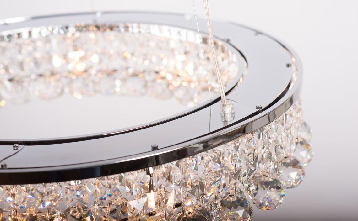 kryształowe lampy do salonu